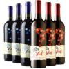 智利进口红酒 拉丁神话赤霞珠,美乐红葡萄酒 750ml*6瓶 整箱装